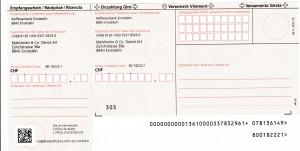 Einzahlungsschein MDA